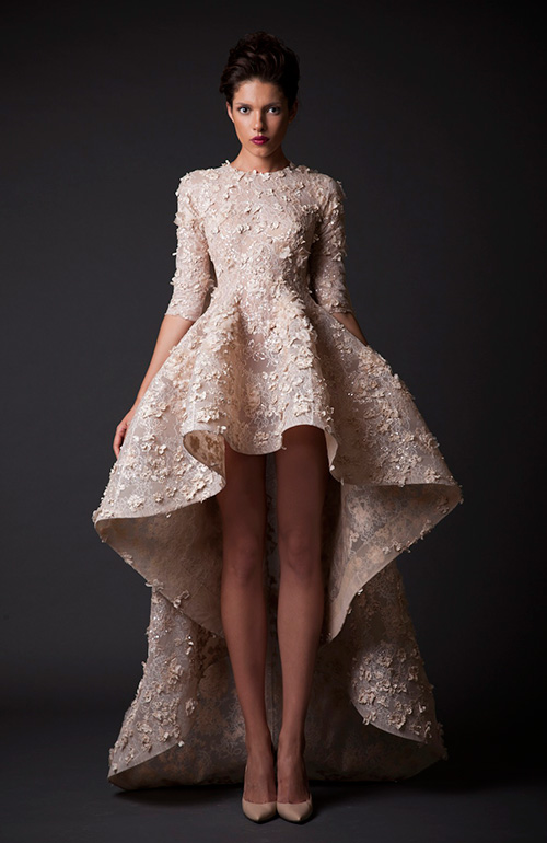 Krikor Jabotian Dramatic Wedding Dress