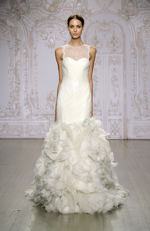 Monique Lhuillier Dramatic Wedding Dress