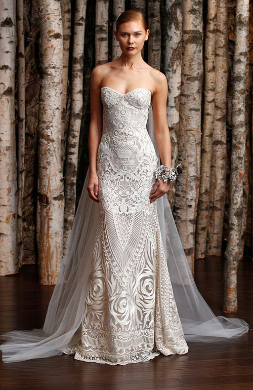 Naeem Khan Dramatic Wedding Dress