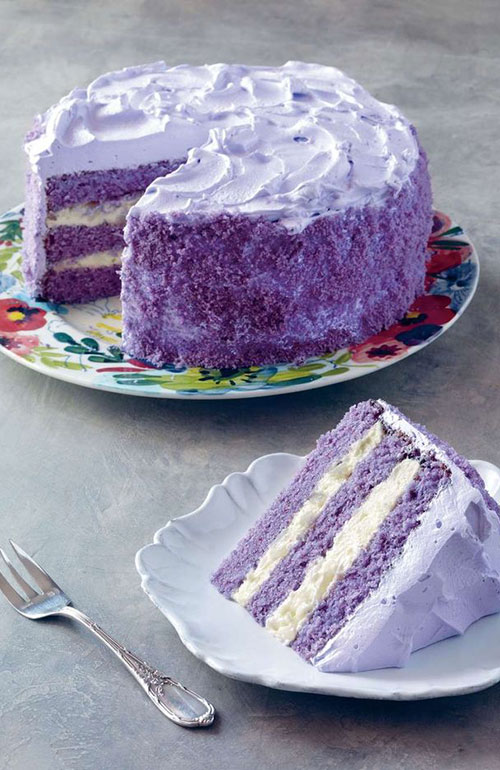 Purple yam and sweet coconut cake Cooked.com.au