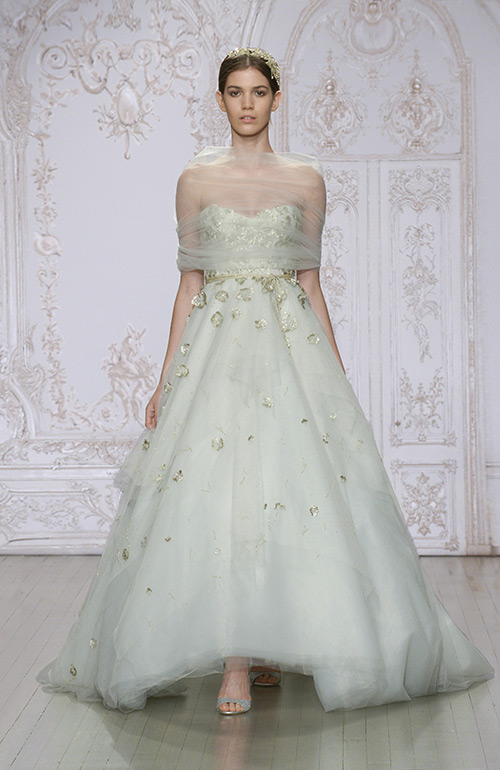 Coloured wedding dress