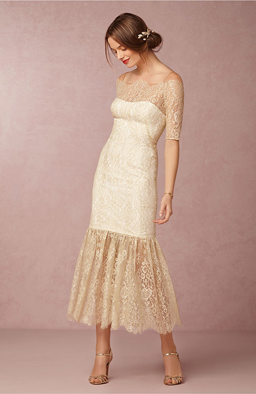 Nontraditional wedding dress BHLDN