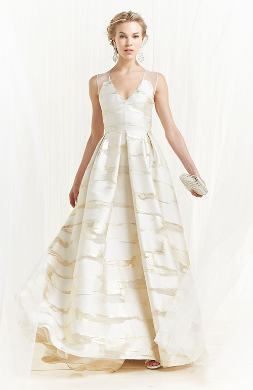Nontraditional wedding dress Lela Rose