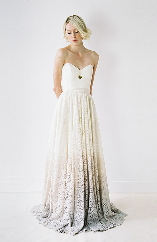 Nontraditional wedding dress Truvelle