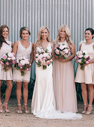 Real Life Wedding Mismatched Bridesmaid Dresses