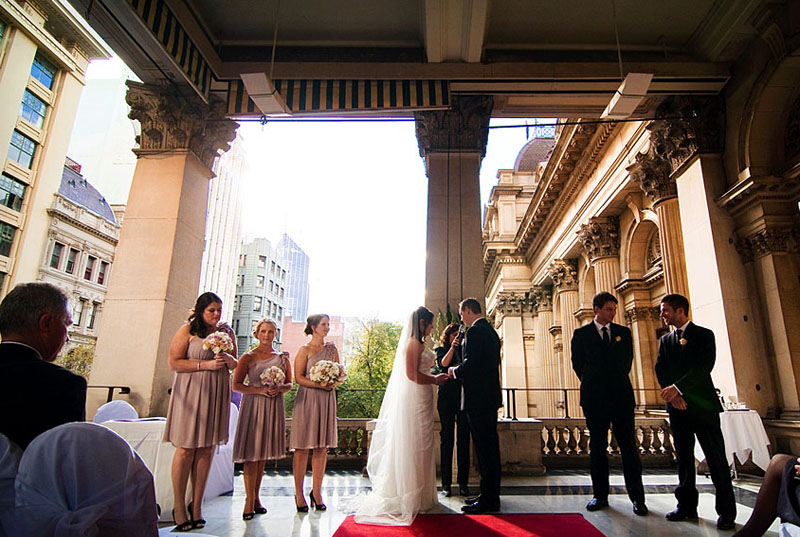Intimate Melbourne wedding venue Town Hall Melbourne