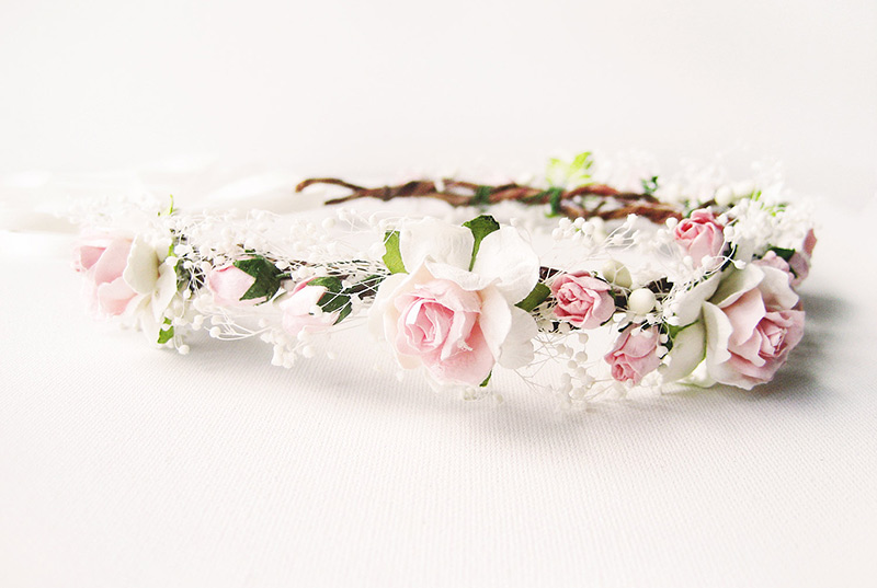 Veil alternative flower crown etsy noon on the moon
