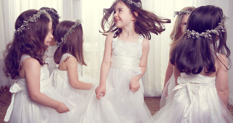 Flower girls, wedding flower girls, bridal attendants,