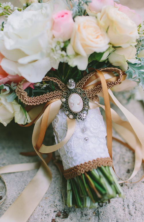 Bouquet with locket