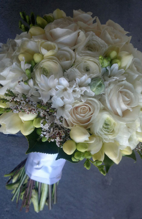 White bouquet Kellee Flowers